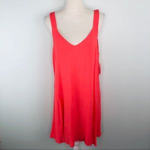 NWT Nordstrom Sanctuary CubanCoral Dress Sz L